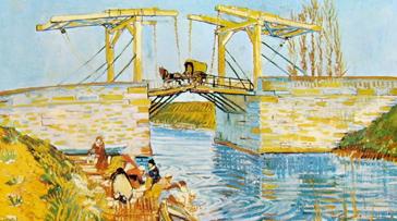 Il ponte di Langlois, 54 x 65 cm. Otterlo Rijksmuseum Kröller-Müller