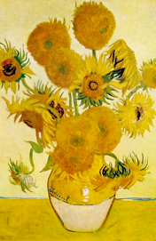 Vaso con girasoli, Londra National Gallery
