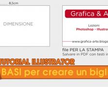 Creare un biglietto da visita con Illustrator