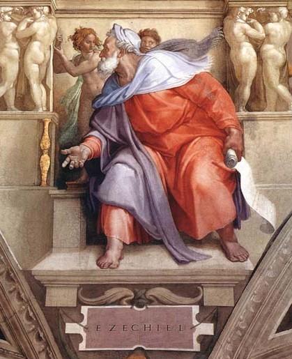Ezechiele, Capella Sistina (particolare)