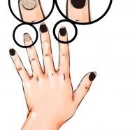 Nail Art Bicolore