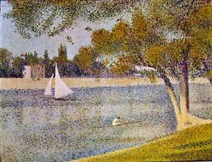 Veduta alla grande Jatte in primavera, George Seurat, 1887