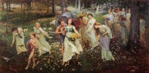 L'avanzare della Primavera, Charles Daniel Ward, 1905
