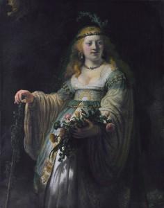 Saskia in veste di Flora, Rembrandt, 1635