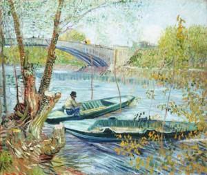 Le peuche au primetemps, Pont de Clichy, Vincent Van Gogh, 1887