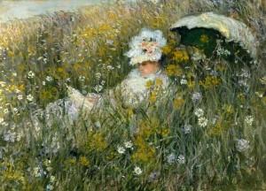 Campo di fiori, Claude Monet