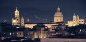 La cattedrale di Palermo vista dalla torre di San Nicolo'