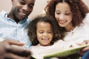 Happy-family-reading-book