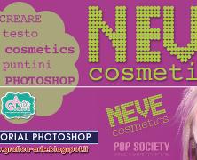 creare testo NEVE COSMETICS a pallini – Tut. Photoshop